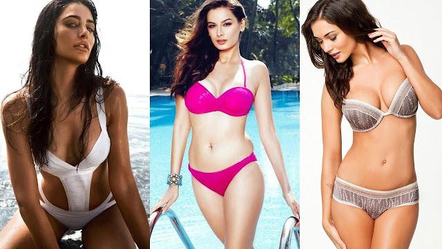 Top 5 Bollywood Actresses in Swimming Costumes/Bikini