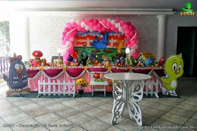 Decoração de aniversário tema para 1 ano - Festa infantil da Galinha Pintadinha