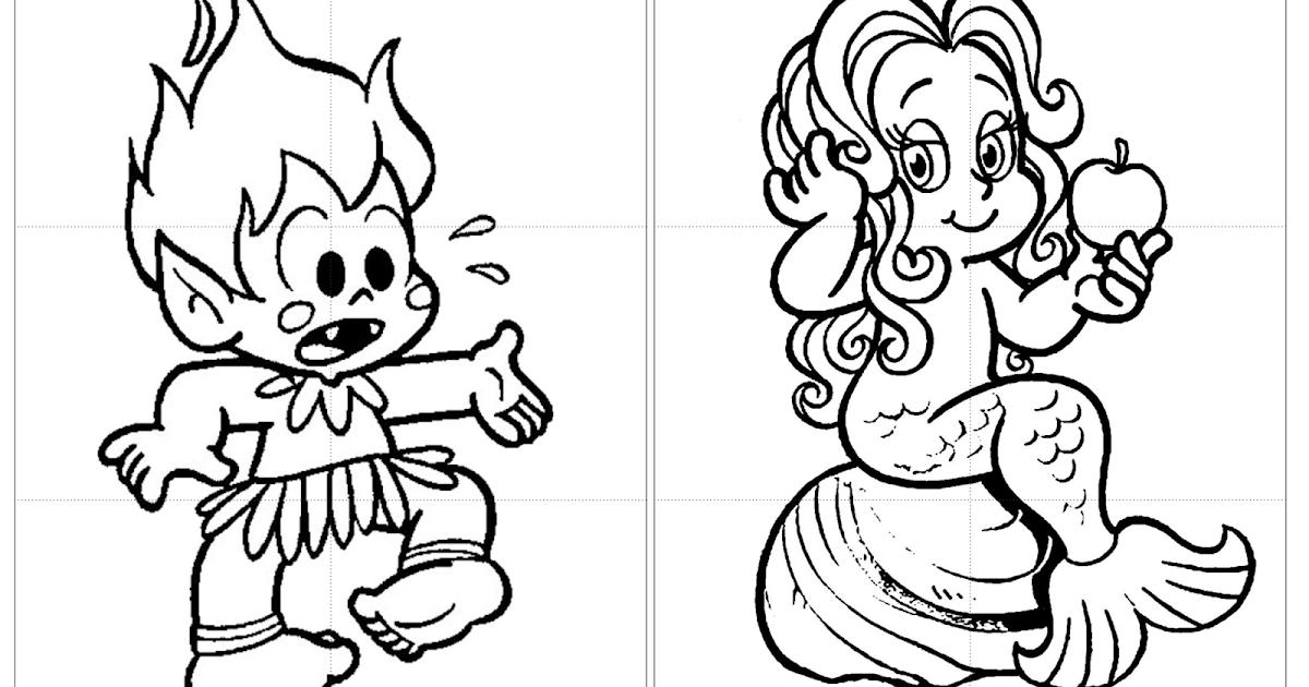 Quebra Cabeca Personagens Folcloricos Para Colorir