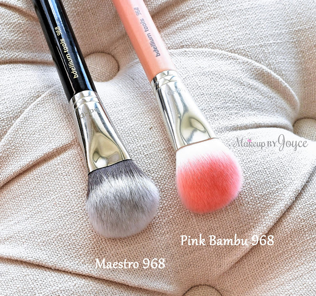 Bdellium Tools Pink Bambu Maestro 968 BDHD Phase II Small Foundation Contour Brush Review