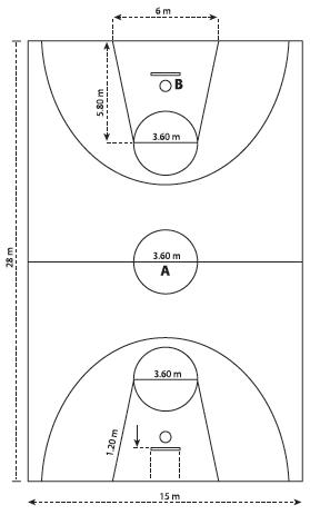 Gambar Lapangan Bola Basket Dengan Ukurannya : gambar, lapangan, basket, dengan, ukurannya, SETIAWATI, ANGGRAENI:, LAPANGAN, BASKET