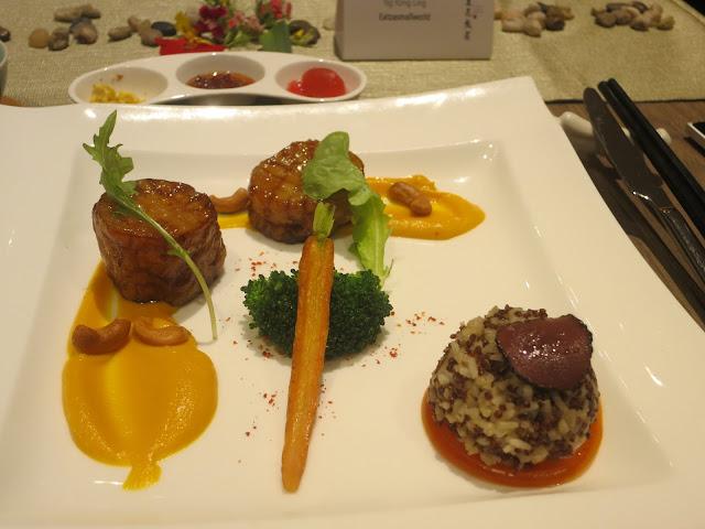 红藜麦松露炖饭配杏鲍菇