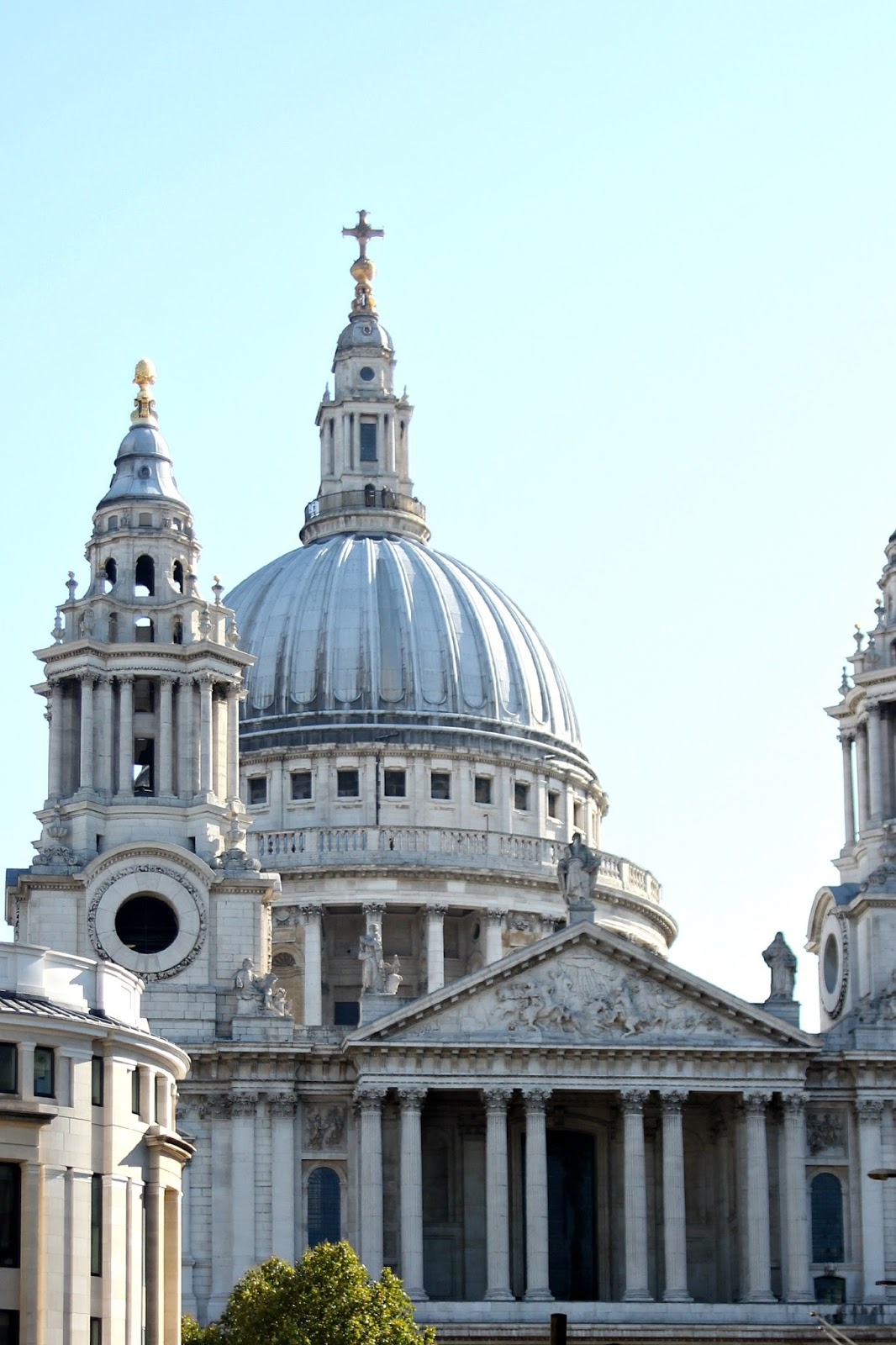 The City of London, Saint Paul's Cathedral and Millennium ...