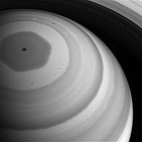The hexagonal storm at Saturn's north pole