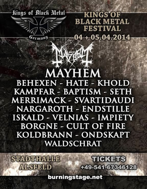 Kings of Black Metal festival 2014 at Stadthalle @ Alsfeld, Hessen, Germany 04 & 05/04/2014