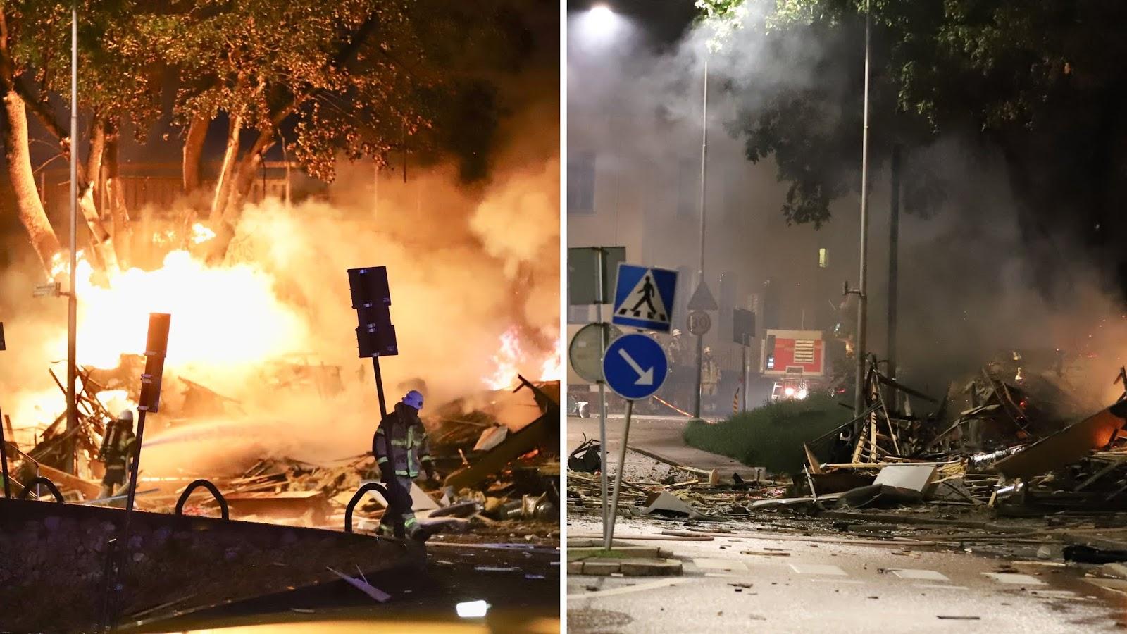 Divi sprādzieni naktī satricināja Zviedriju
