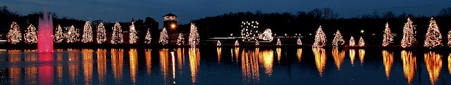 Holiday light sparkle in Christmas Town USA