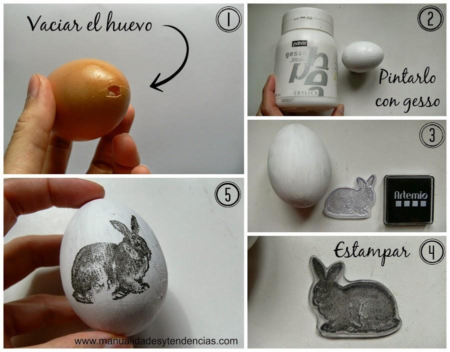 Cómo decorar huevos de Pascua con sellos