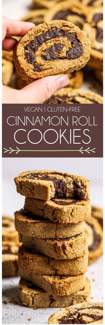 GLUTEN-FREE CINNAMON ROLL COOKIES #cake