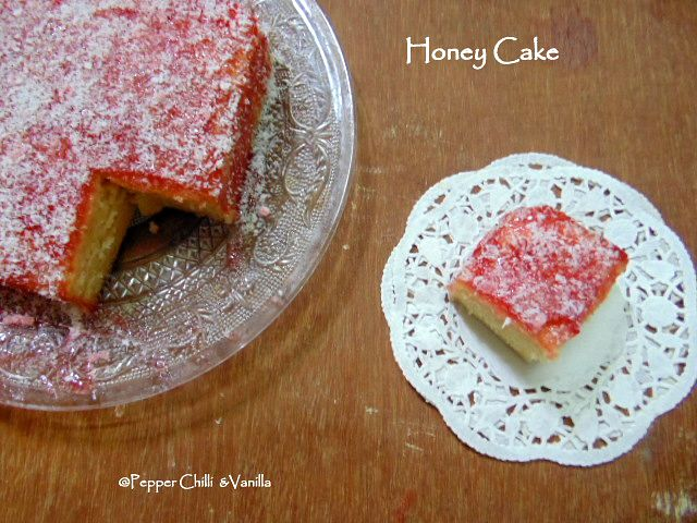 Iyengar honey cake recipe,how to make honey cake