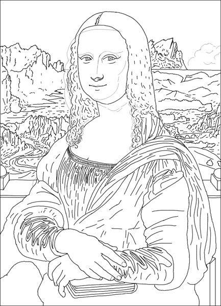 Arte Para Niños Obras De Leonardo Da Vinci Para Pintar Y Colorear