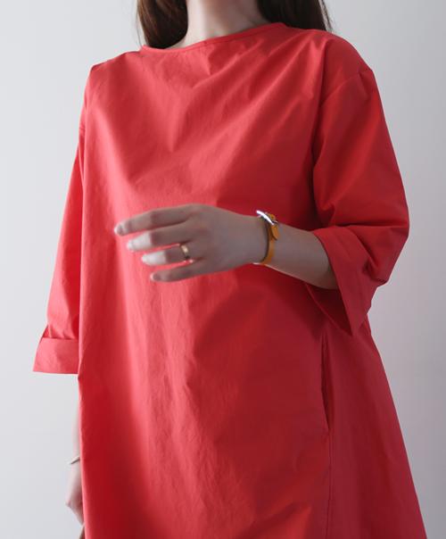 Solid Color Knee Length Bracelet Sleeve Dress