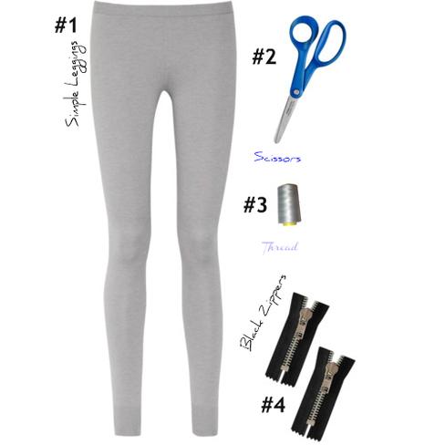 leggings, cremallera, labores, bricomoda, customizar, costura, refashion
