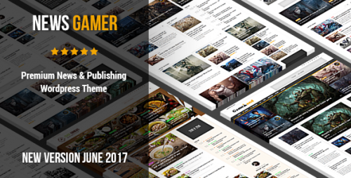 News Gamer v2.2 – Premium WordPress News Publishing Theme