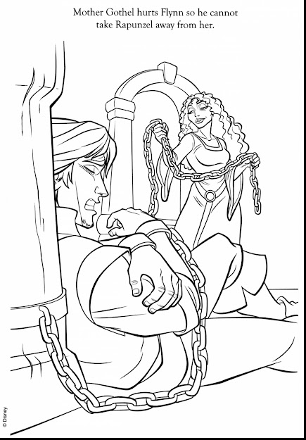 Awesome Flynn Rider Printable Coloring Pages With Rapunzel Coloring Page  And Rapunzel Coloring Pages Online