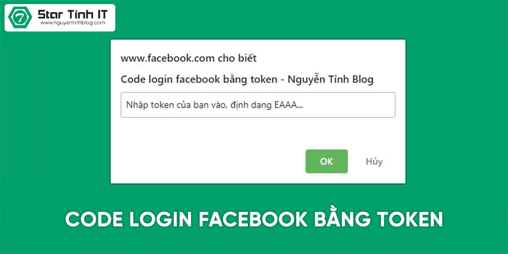 Share code javascript đăng nhập facebook bằng token mới nhất 2019, không cần cookie, code đăng nhập fb bằng roken,code login facebook cookie, code login facebook token, code f12, hack fb