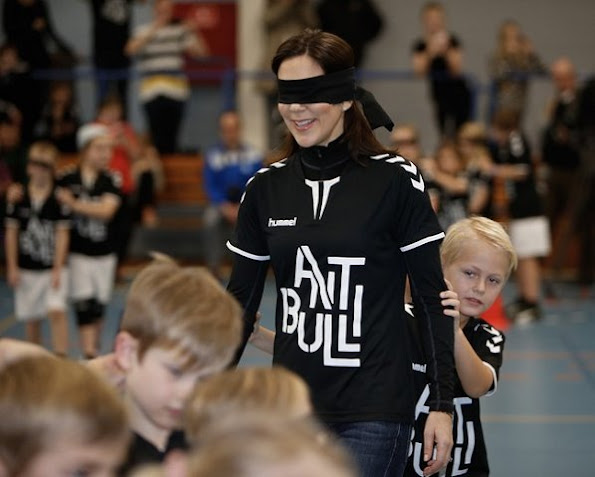 Crown Princess Mary of Denmark attended the launch of the new campaign the Antibulli, with the Mary Foundation