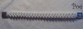 Белоснежный браслет из бисера