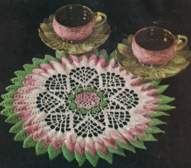 Bluebell Crafts Sunburst Rose Doily Vintage Pattern
