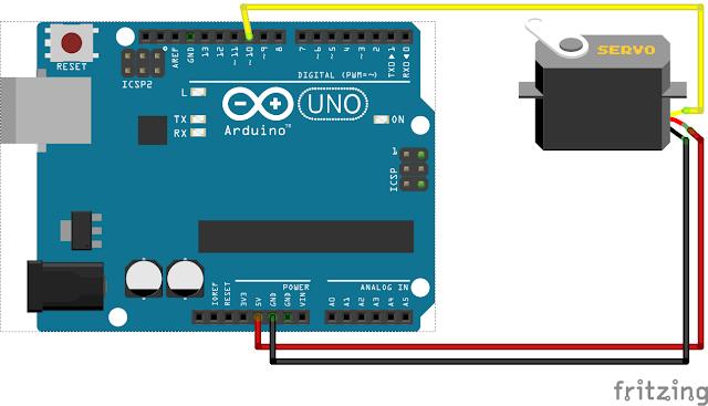 Wiring Arduino Menggunakan Motor Servo