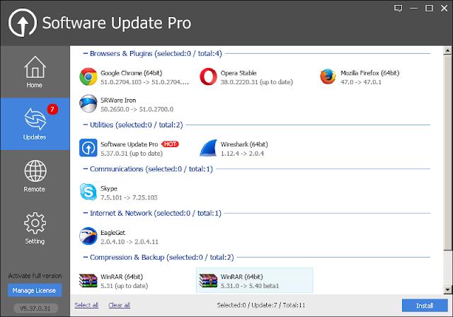 برنامج Software Update Pro لتحديث جميع برامج الكمبيوتر بنقرة زر واحدة