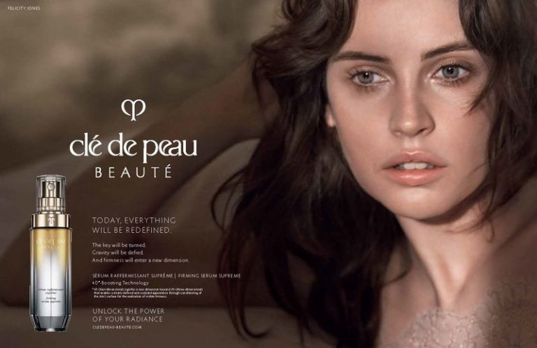 Felicity Jones for Clé de Peau Beauté