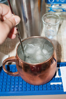 Sauza Minted Mule, Sauza Signature Blue Silver Tequila, lime juice, ginger beer, Bundaberg, mint leaves, copper mug