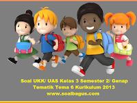 Soal PAT/ UKK Kelas 3 Tema 6 Kurikulum 2013