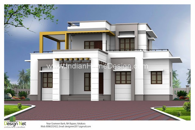 Simple Yet Creative Concept In 2000 Sq Ft Modern Box House