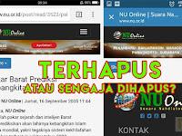 Ketahuan Pernah Posting Tentang Tegaknya Khilafah, Website NU Menghapus Beritanya?