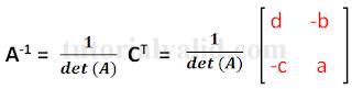Invers matriks 2x2