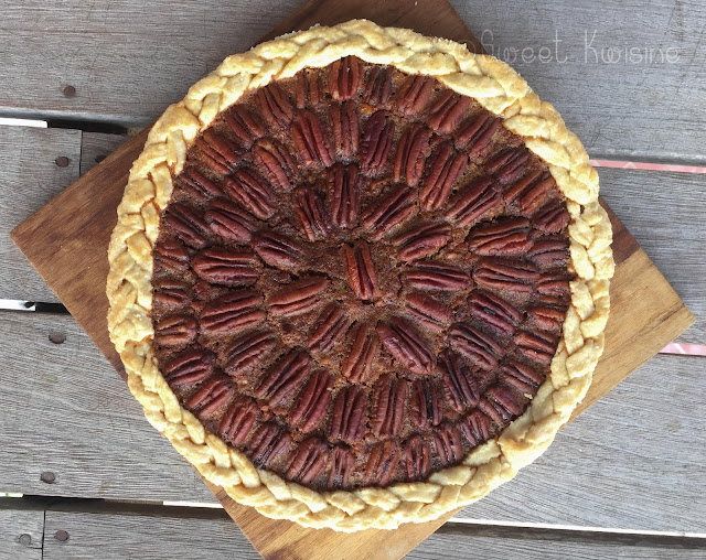 sweet kwisine, noix de pécan, pecan pie, tarte, golden syrup, végétarien, cuisine antillaise