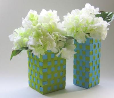 Kreasi Kerajinan Tangan Membuat Pot Bunga Dari Kain Pita Dan Kardus Bekas