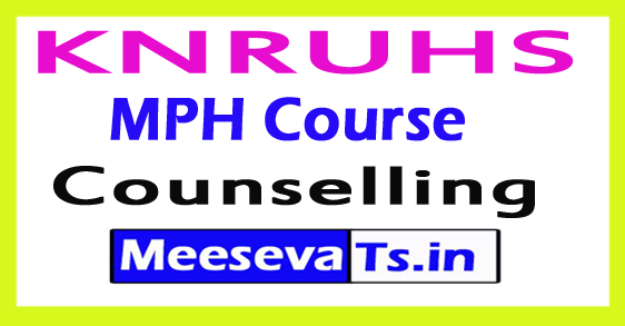 KNRUHS MPH Course Counselling 2017