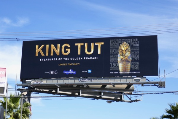 King Tut exhibition billboard