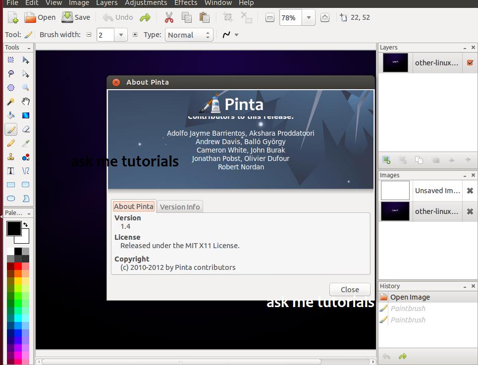 Install Pinta 1 4 / 1 5 On Ubuntu / LinuxMint - askmetutorials