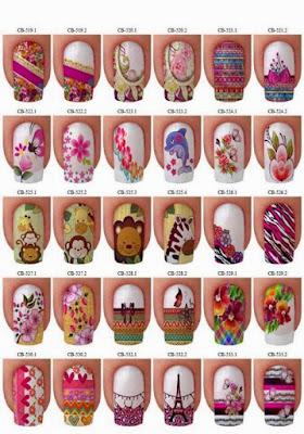 Decoraciones de uñas bonitas para manos