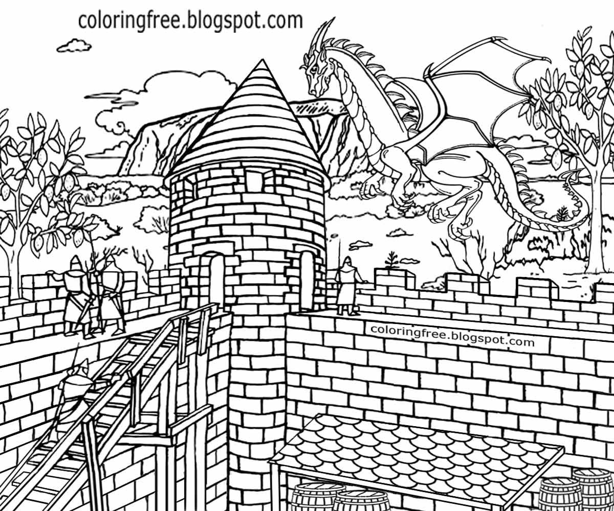 complex coloring pages of dragons - photo#23
