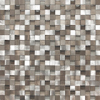 Kahverengi ve açık tonlarında cam duvar mozaiği