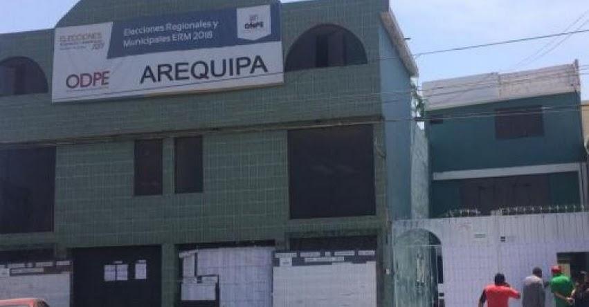 ONPE: Arequipa elegirá a gobernador regional en segunda vuelta, según resultados oficiales
