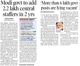 govt+to+recruit+2.2+lakh+staff+news