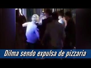 Dilma é vaiada em pizzaria na cidade de São Paulo