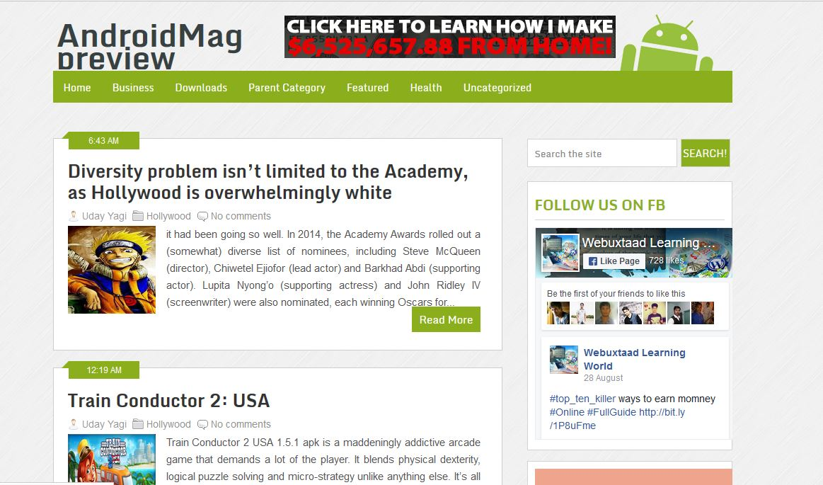 Android Mag Blogger Template Without credit link - Professional ...