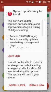 Verizon Galaxy S6 And S6 Edge Rolling Out With Android Nougat Update