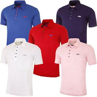 UKKO Mens Ealing Golf Polo Shirt Slim Fit Mercerized Cotton