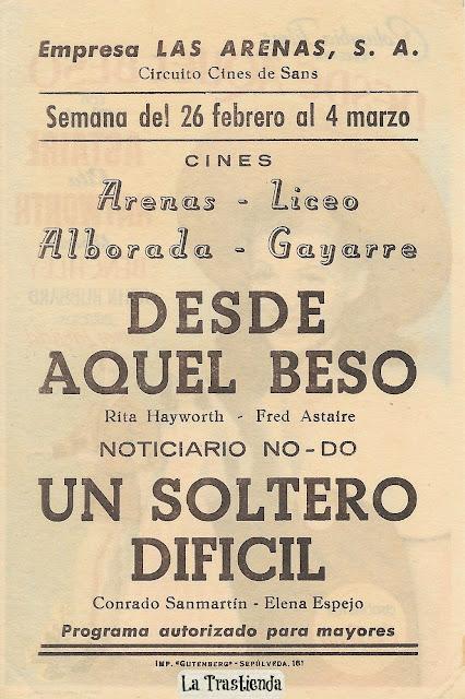 Programa de Cine - Desde Aquel Beso - Fred Astaire - Rita Hayworth