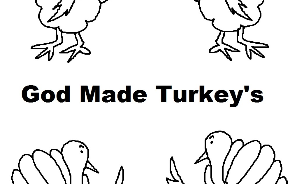 Church House Collection Blog: God Made Turkey's Coloring Page