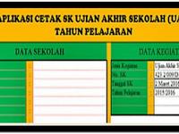 APLIKASI CETAK PEMBUATAN SK UJIAN AKHIR SEKOLAH BARU 2018
