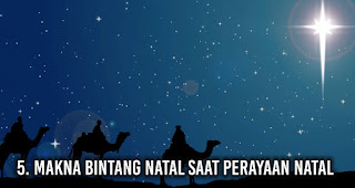 Makna Bintang Natal saat perayaan Natal