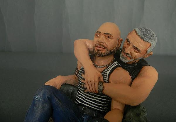 action figures figure personalizzate statuette coppia gay ritratti statuine orme magiche
